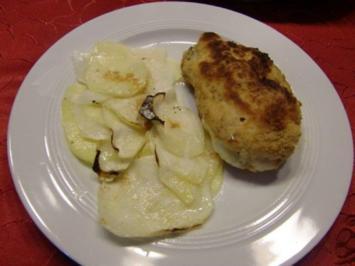 Hähnchen Cordon Bleu mit Kartoffel-Kohlrabi-Gratin à la Heiko - Rezept