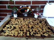Pflaumenkuchen mit Quarkteig und Streusel - Rezept