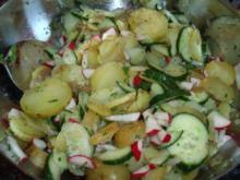 Radieschen-Gurken-Kartoffelsalat - Rezept