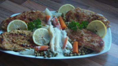 Schnitzel mit frischem Gemüse - Rezept