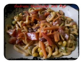 Salat: Nudelsalat mit Pepp! - Rezept