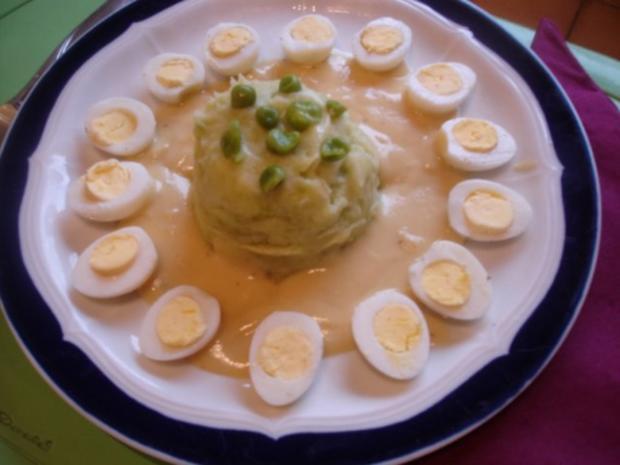 Gekochte Wachteleier mit Senfsauce und Kartoffelpüree mit Erbsen - Rezept - Bild Nr. 19
