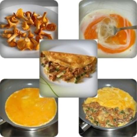 Gefülltes Omelett mit Pfifferlingen - Rezept - Bild Nr. 7