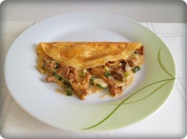 Gefülltes Omelett mit Pfifferlingen - Rezept - Bild Nr. 15