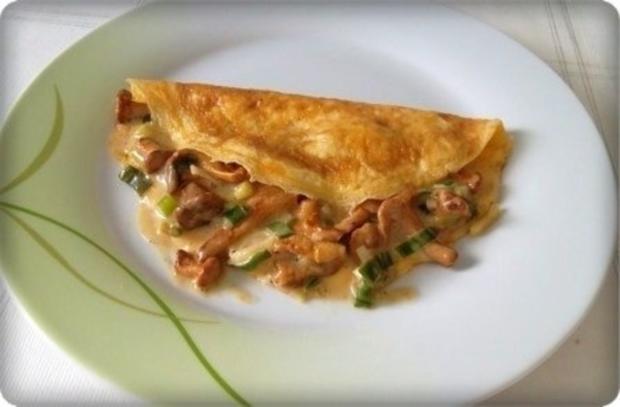 Gefülltes Omelett mit Pfifferlingen - Rezept - Bild Nr. 14