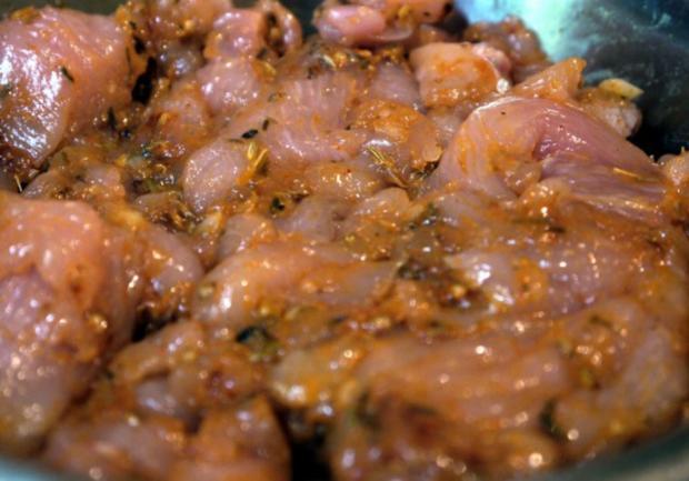 Pommes Frites von der Süßkartoffel, Hähnchengeschnetzeltes und Tzatziki - Rezept - Bild Nr. 8