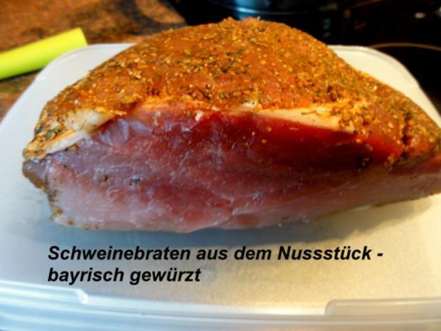 Fleisch:    SCHWEINEBRATEN -bayrische Art- - Rezept - Bild Nr. 2
