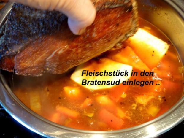 Fleisch:    SCHWEINEBRATEN -bayrische Art- - Rezept - Bild Nr. 8