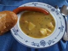 Kartoffelsuppe mit Speck und Würstchen - Rezept