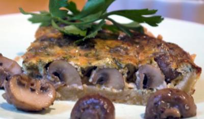 Kräuter-Champignon-Quiche - Rezept