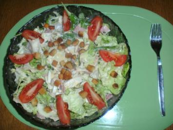 Rezept: Italienischer Salat mit Nordsee Krabben und Croûtons