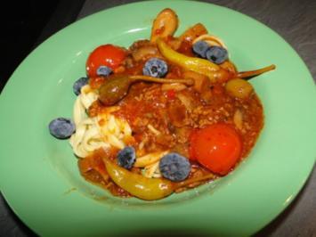 Bolognese-Sauce mit Blaubeeren - Rezept