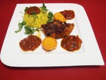 Red Snapper kreolische Art mit Salsasoße und Süßkartoffeln mit Karamellbutter - Rezept