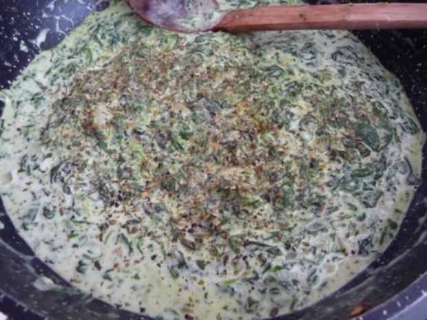 Pasta : Reisnudeln mit Spinat und Spiegeleier - Rezept - Bild Nr. 11