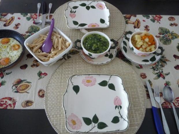 Pasta : Reisnudeln mit Spinat und Spiegeleier - Rezept - Bild Nr. 13