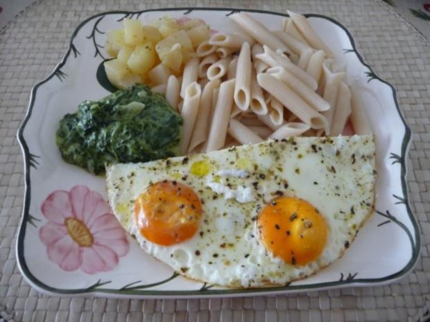 Pasta : Reisnudeln mit Spinat und Spiegeleier - Rezept - Bild Nr. 14