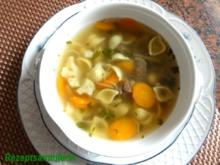 Suppe:   RINDFLEISCHBRÜHE , klar - Rezept