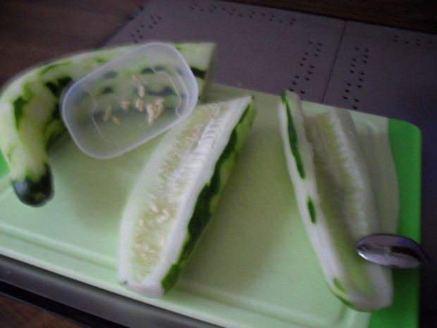 Gurkensalat aus Chinesischer Schlangengurke - Rezept - Bild Nr. 5