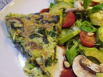 Zucchini-Spinat-Omelett - Rezept