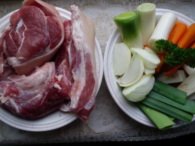 Eisbein klassisch mit Gemüse - Rezept - Bild Nr. 2