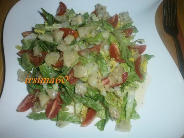 Salatherzen mit Tomaten und Kaktusfeigen Dressing - Rezept - Bild Nr. 3
