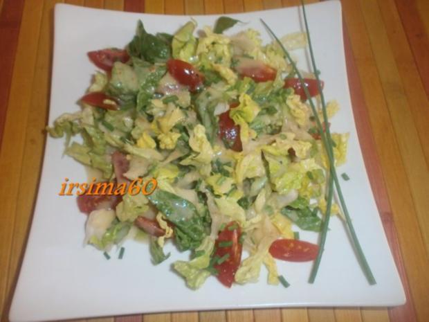 Salatherzen mit Tomaten und Kaktusfeigen Dressing - Rezept