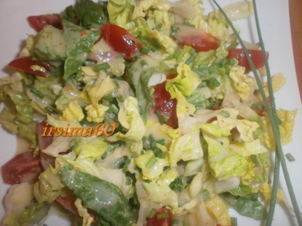 Salatherzen mit Tomaten und Kaktusfeigen Dressing - Rezept - Bild Nr. 2
