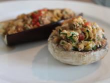 Gefüllte Auberginen / Zucchini / Champignons - Rezept