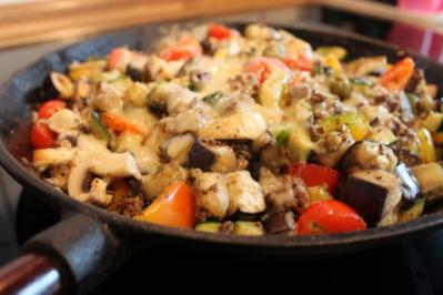 Rezept: Hackfleisch-Gemüse-Pfanne