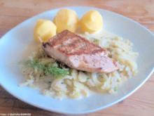 Lachs auf Fenchelgemüse - Rezept