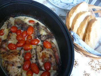 Geschmortes Kaninchen mediterran - Rezept