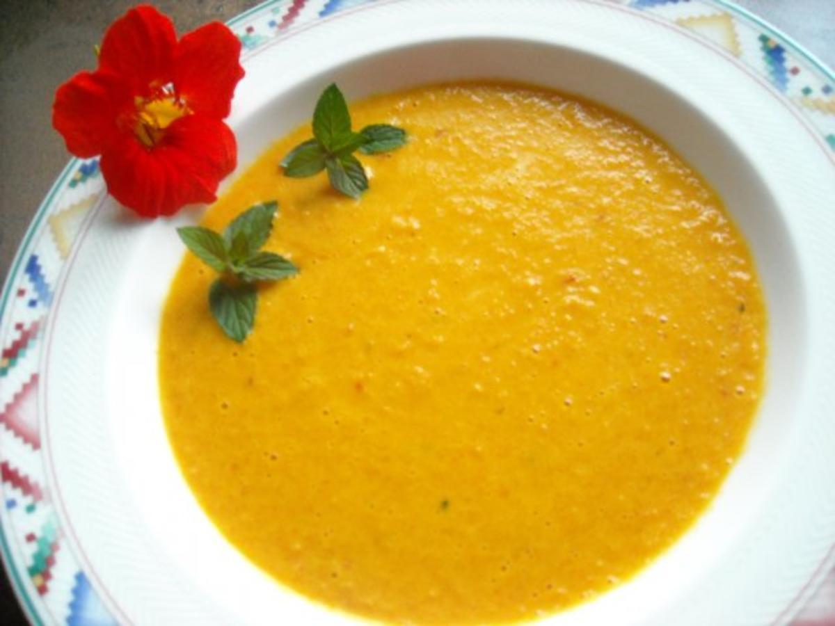 Fruchtig Scharfe Karottensuppe Mit Minze Rezept Kochbarde