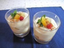 Orangen - Ananas - Speise (eigetlich Mangobecher...doch die Mango war schlecht *g*) - Rezept