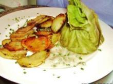 GEMÜSE: Weißkohl-Säckchen mit Haselnuss-Sauce -anstelle Kohlrouladen - Rezept
