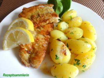 Fisch:   ROTBARSCHFILET im Gewürzeimantel - Rezept