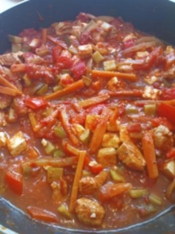 Hühnchen-Gemüse Pfanne - Rezept