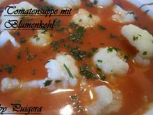 Tomatensüppchen mit Blumenkohl - Rezept