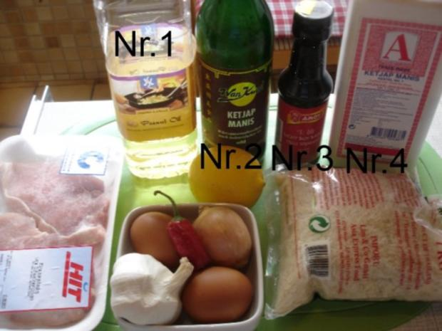 Schweineschnitzel-Eier-Wok mit Reis - Rezept - Bild Nr. 2