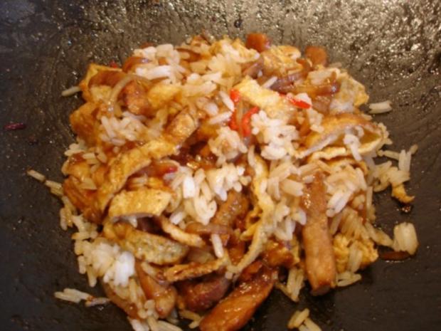 Schweineschnitzel-Eier-Wok mit Reis - Rezept - Bild Nr. 29