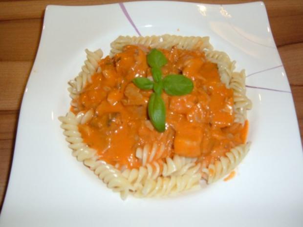 Fisch : 2erlei in Tomatensoße mit Pasta - Rezept - Bild Nr. 7