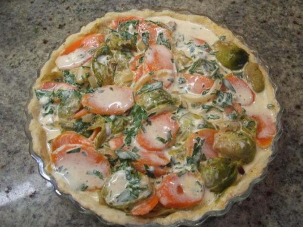 Quiche: Gemüse-Quiche - Rezept - Bild Nr. 10