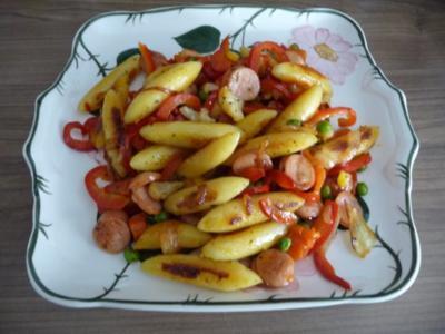 Unter 30 Minuten : Bunte Schupfnudel-Pfanne - Rezept