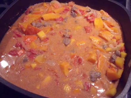 Kürbis-Curry mit Lammfleisch - Rezept