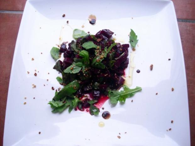 Rote Beete-Rucola Salat - Rezept