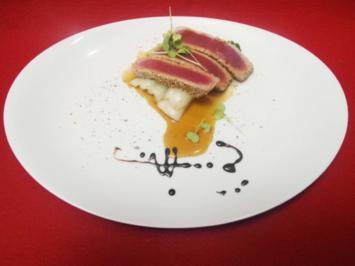 Thunfisch-Sashimi mit Teriyaki-Soße - Rezept