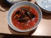 Wenn mieße Muscheln in Rotwein kuscheln -oder- Der Rotwein-öffnet-Tür-und-Tor-Topf - Rezept