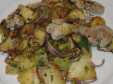 Gröstl mit Schweinefilet und Steinpilzen - Rezept