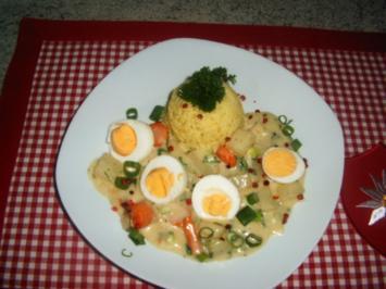 Eier mit Gemüse -Ragout - Rezept