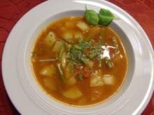 Tomaten-Bohnen-Suppe mit Kartoffeln - Rezept