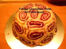 Himbeer-Schwarzbeeren  Charlotten Torte - Rezept